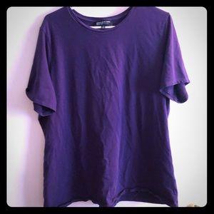 Dark Purple Short Sleeved T-Shirt